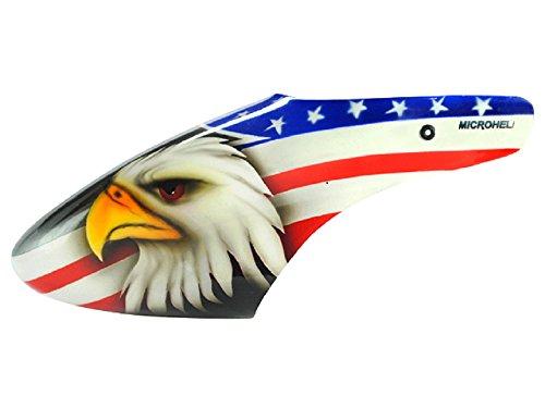 Microheli Airbrush Fiberglass Eagle Head Canopy - BLADE 130X