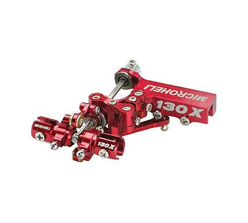 Prec CNC Tail Set Pro Set Red  BLADE 130X by Microheli Co