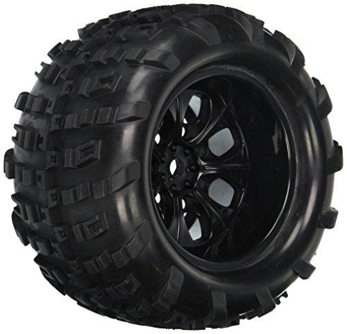 Redcat Racing 07065-10 Complete Wheels Black for 10Mm Axle 2 Wheels