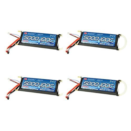 Venom 100C 2S 5000mAh 74v Water Cooled Marine 2 Cell LiPO Battery x4 Packs