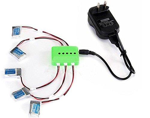 5Pcs 37V 150mAh Li-po Battery and Charging Cable Set for JJRC H20 RC Quadcopter