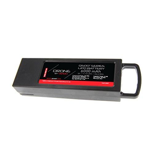 Venom 10C 3S 6000mAh 111V LiPO Battery WITH Single LiPo Fire Bag Battery fits Yuneec Q500 Q500 4K Q500 and Q500 G