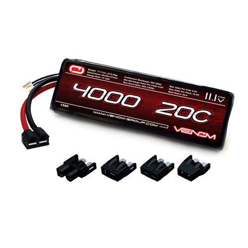 Venom LiPo Battery for Traxxas Rustler 20C 111 4000mAh 3S with Universal Plug System
