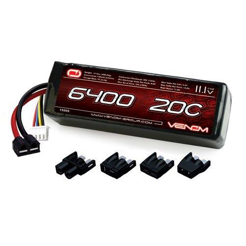 Venom LiPo Battery for Traxxas Slash 110 VXL 20C 111 6400mAh 3S with Universal Plug