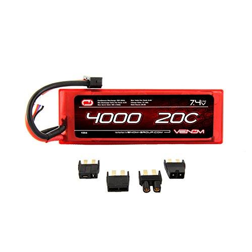 Venom LiPo Battery for Traxxas Slash 110 VXL 20C 74 4000mAh 2S with Universal Plug