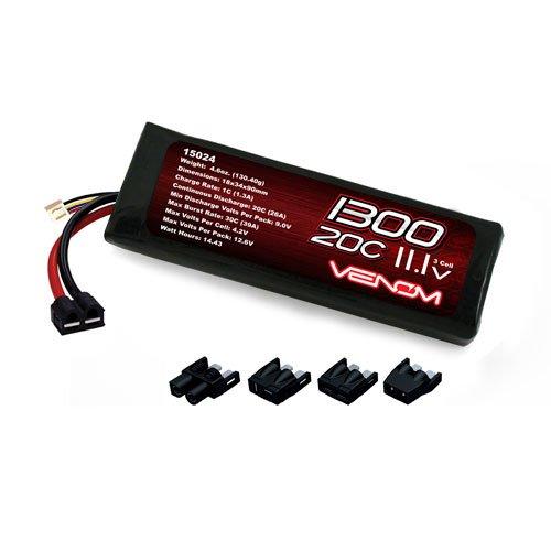 Venom LiPo Battery for Traxxas Slash 4X4 116 20C 111 1300mAh 3S with Universal Plug