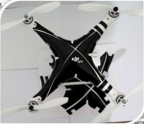 Black spy Decal skin wrap sticker Compatible with DJI Phantom 2 and Phantom 1 Quadcopter Accessory