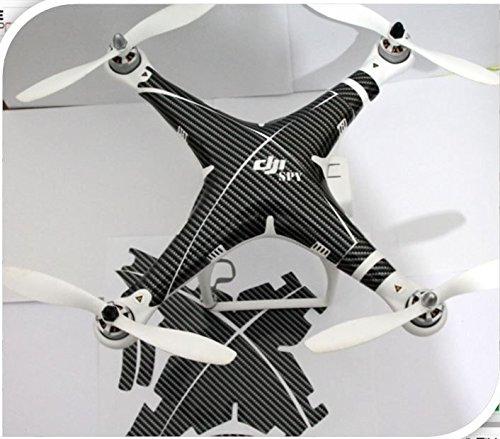 Carbon spy Decal skin wrap sticker Compatible with DJI Phantom 2 visionPhantom 1 Quadcopter Accessory