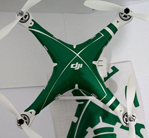 Green Decal skin wrap sticker Compatible with DJI Phantom 2visionPhantom 1 Quadcopter Accessory