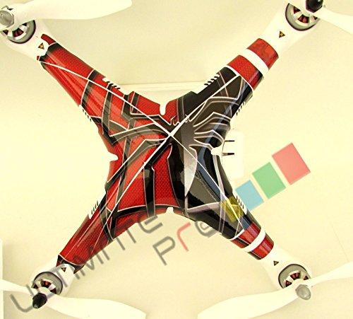 Spider Decal skin wrap sticker Compatible with DJI Phantom1 2 visionPhantom 1 Quadcopter Accessory
