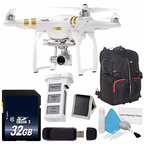 DJI Phantom 3 Professional Quadcopter with 4K Camera and 3-Axis Gimbal  DJI Intelligent Flight Battery for Phantom 3  DJI Phantom Backpack 6AVE Bundle 7