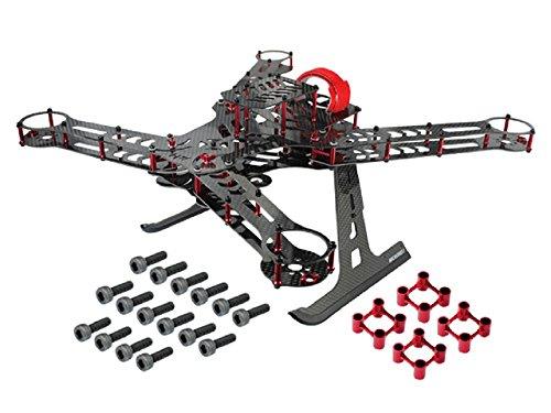Microheli CNC AluminumCarbon Fiber Quadcopter Frame Kit RED - BLADE 350 QX