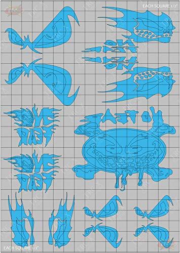 TRC8082 No Fear Design Paint Mask RC Body Vinyl Paint Mask Stencils Airbrush RC