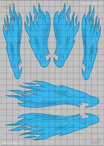 TRC8130 Screaming Eagle Design Paint Mask RC Body Vinyl Paint Mask Stencils Airbrush RC