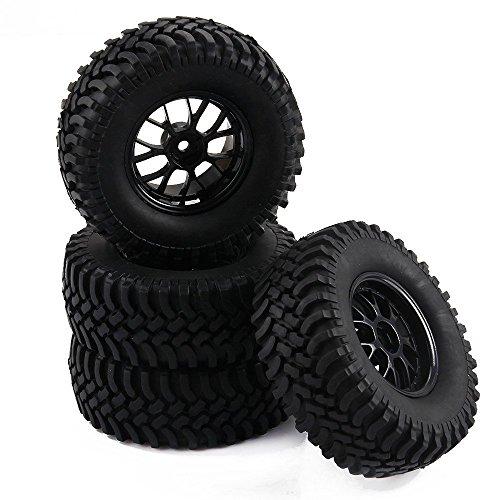 Yiguo RC 110 Off-Road Rock Climbing Car 12mm Y-Shape Wheel Rims and 100mm Tires Black Set of 4