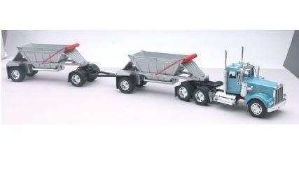 Die-Cast Truck Replica - Kenworth W900 Double Belly Dump Truck 132 Scale Model 13723