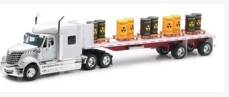 Newray International Lonestar Flatbed with Radioactive Waste Barrels 132 Scale Model Toy Truck
