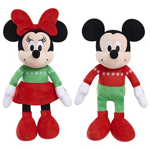 Disney Holiday 9 Bean Plush- Mickey Minnie Brown Mailer