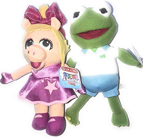 Disney Junior Exclusive Muppets Babies 7 Bean Plush - Miss Piggy and Kermit