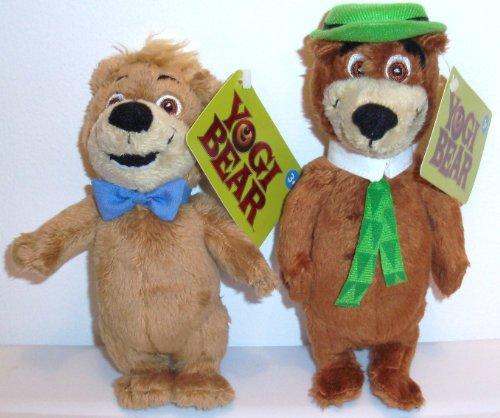 Yogi Bear 2010 Movie BOO BOO and YOGI Set of 8 Plush Bean Bag Toy Dolls