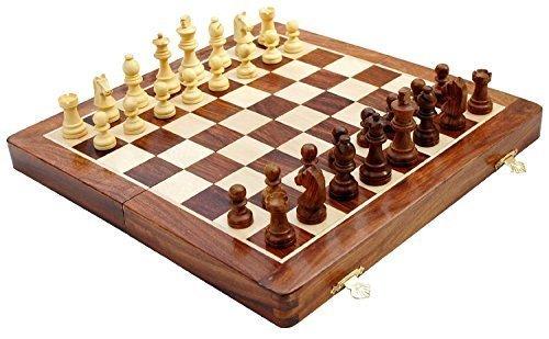 Kimaro 16 Foldable Premium Wooden Chess Game Board Set Ultimate tournament Chess Board by kimaro