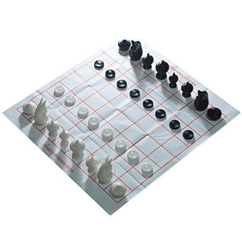Thai Chess Makruk Plastic BlackWhite No Box Checker World Chess Collector Made in Thailand