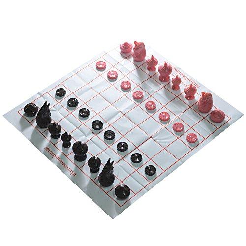 Thai Chess Makruk Plastic Thaichess BrownPink No Box Checker World Chess Collector Made in Thailand