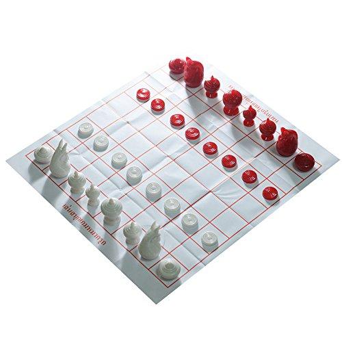 Thai Chess Makruk Plastic Thaichess WhiteRed No Box Checker World Chess Collector Made in Thailand