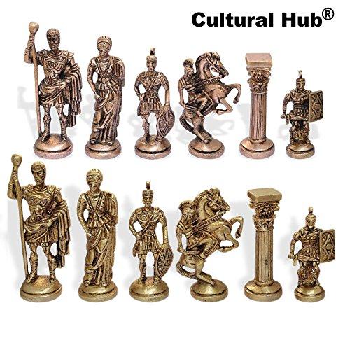 Indian Brass Chess Pieces Set