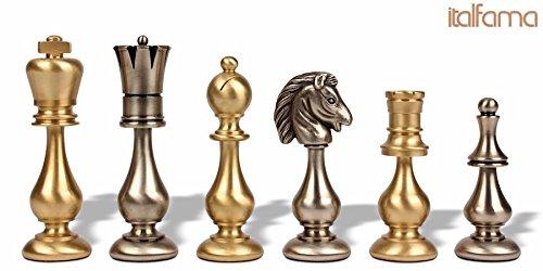 Large Classic Oriental Brass Chess Set