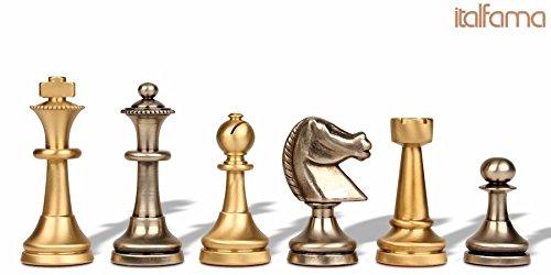 Traditional Staunton Brass Chess Set