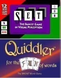 Set Game and Quiddler Game Set by Set Enterprises