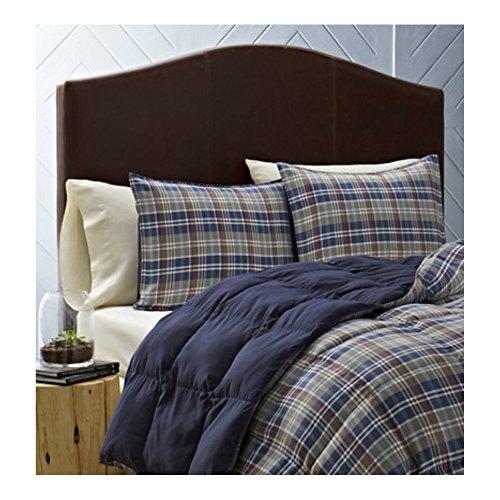 3 Piece King Size Super Soft Warm Reversible Comforter Set in Blue  Dune Plaid Check Pattern - Best for Teens Boys Bedroom  Dorm