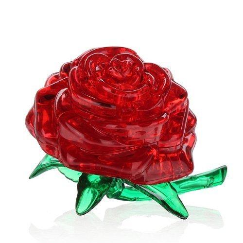 3D Crystal Puzzle Cube Block Jigsaw Model DIY Rose IQ Toy Furnish Gift Gadget