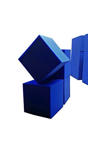 Foam Pit CubesBlocks 500 pcs Blue 4x4x4 1536 Flame Retardant Pit Foam Blocks For Skateboard Parks Gymnastics Companies and Trampoline Arenas