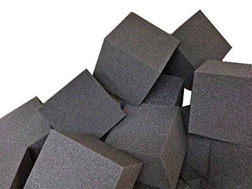 Foam Pit CubesBlocks 500 pcs Charcoal 4x4x4 1546 Flame Retardant Pit Foam Blocks For Skateboard Parks Gymnastics Companies and Trampoline Arenas