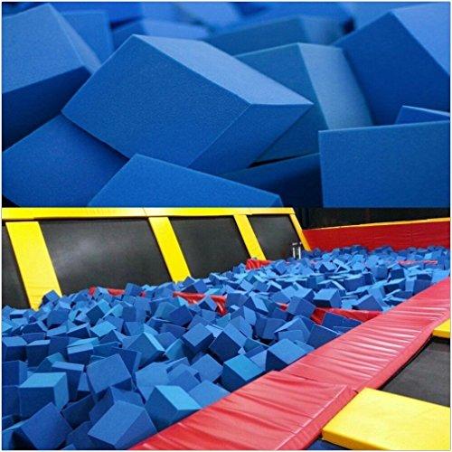 Foam Pits CubesBlocks 68 pcs 8x8x8 Blue 1536 Flame Retardant Pit Foam Blocks For Skateboard Parks Gymnastics Companies and Trampoline Arenas