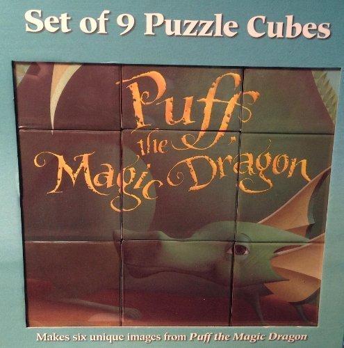 Puff the Magic Dragon Illustrated 9 Cube Block Puzzle