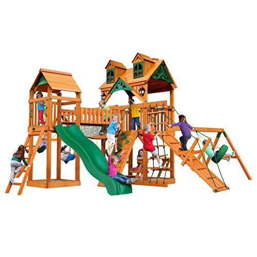 Gorilla Playsets Malibu Pioneer Peak Swing Set wNatural Cedar