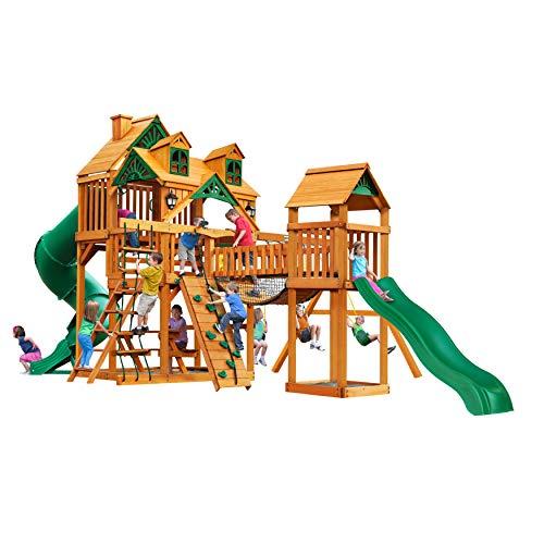 Gorilla Playsets Malibu Treasure Trove I Swing Set wNatural Cedar