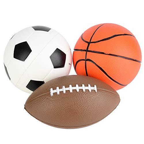 Alomejor 3pcs Balls Toy for Baby and KidsSoft Inflatable Soccer BallFootballBasketball Toy IndoorOutdoor Ball for Children Boys Girls Funny Gift