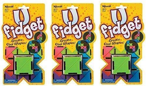 Set of 3 U Fidget Toy - Create Cool Shapes