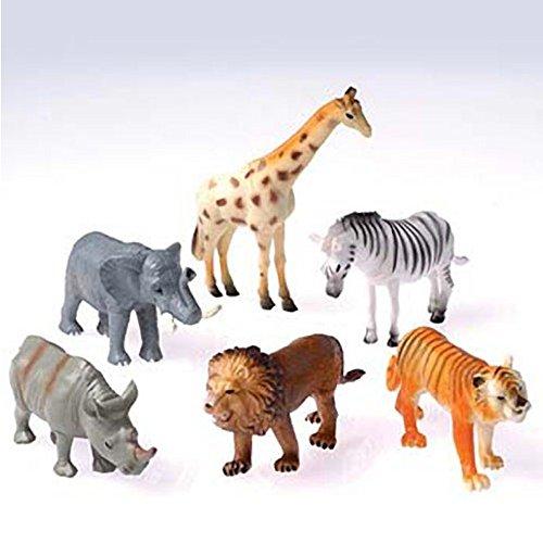 US Toy 6 Plastic Toy Safari Animals Toy