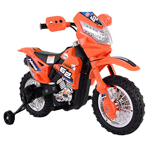 Costzon Kids Ride On Motorcycle with Training Wheel 6V Battery Powered Riding Toy