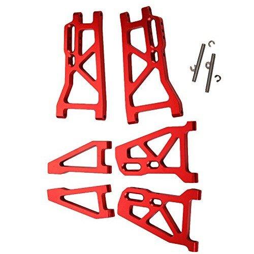 Yiguo 1 set Aluminium Front UpperLower Suspension Arm Rear Lower Suspension Arm for FS RC 110 Truck Model Car Upgrade Red