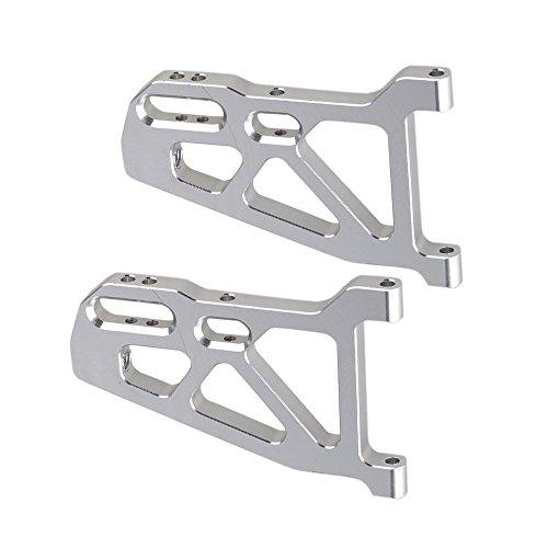 Yiguo 2pcs Aluminium 513007 Front Lower Suspension Arm for FS RC 110 Truck Model Car Upgrade Silver