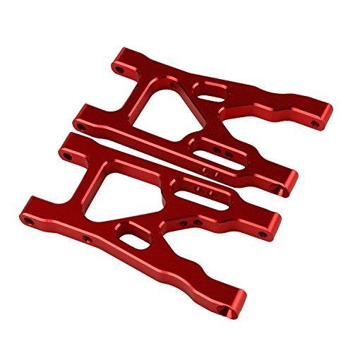 Yiguo 2pcs Aluminium Alloy K949-004 Front Suspension Arm for RC 110 WL K949 Off-Road Model Car Red
