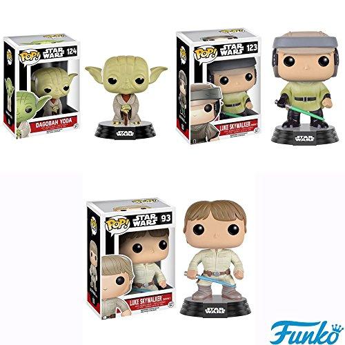 Star Wars Dagobah Yoda Endor Luke and Bespin Luke Pop Vinyl Bobble Heads Set of 3