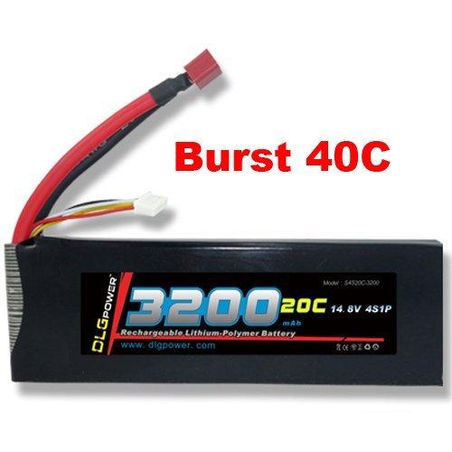 DLG 20C Burst 40C 4S 3200mAh 148V LiPO Li-Po High-Discharge Rate Powerful Battery with Deans T Plug