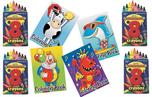 84 piece Kids Coloring Pack Party Favor Bundle 36 Coloring Books 48 Crayons 6 8 piece Boxes